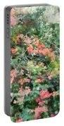 Bush Full Of Flowers. Portable Battery Charger