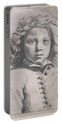 Bust Of A Boy Portable Battery Charger