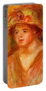 Bust Of A Young Girl In A Straw Hat 1917 Portable Battery Charger