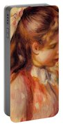 Bust Of A Young Girl Portable Battery Charger