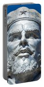 Bust Of Che Guevara In La Higuera Portable Battery Charger