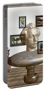 Bust Of The Spirit Of Einstein Portable Battery Charger