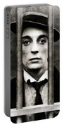 Buster Keaton, Vintage Actor Portable Battery Charger