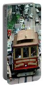 Busy Day On The California Street Cable Car Incline Portable Battery Charger