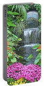 Butchart Gardens Waterfall Portable Battery Charger
