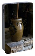 Butter Churn On Hearth Still Life Portable Battery Charger