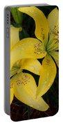Buttercream Lilies Portable Battery Charger