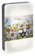 Butterflies And Flowers Portable Battery Charger
