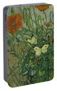 Butterflies And Poppies, 1890.  Portable Battery Charger