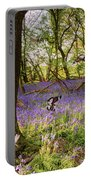 Butterflies In A Bluebell Woodland Portable Battery Charger