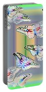 Butterflies In The Vortex Portable Battery Charger