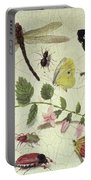 Butterflies, Insects And Flowers Portable Battery Charger