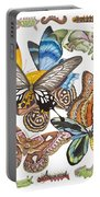 Butterflies Moths Caterpillars Portable Battery Charger