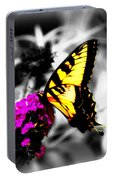 Butterfly And Lilac Portable Battery Charger