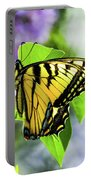 Butterfly And Lilacs Portable Battery Charger