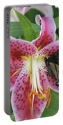 Butterfly And Lilly Portable Battery Charger