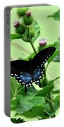 Butterfly And Mossy Pond Portable Battery Charger