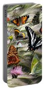 Butterfly Collage Portable Battery Charger