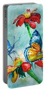 Butterfly Dance Portable Battery Charger