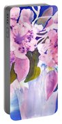 Pink Butterfly Flowers Portable Battery Charger