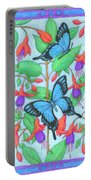 Butterfly Idyll-fuchsias Portable Battery Charger