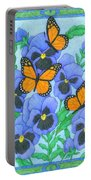 Butterfly Idyll-pansies Portable Battery Charger