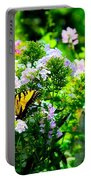 Butterfly In A Garden Portable Battery Charger