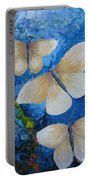 Butterfly In Blue 4 Portable Battery Charger