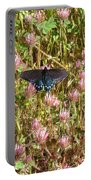 Butterfly In Clover Portable Battery Charger