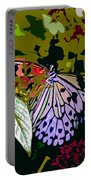 Butterfly In Garden Portable Battery Charger