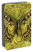 Butterfly In Golds-amber Collection Portable Battery Charger