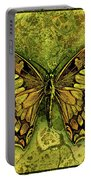 Butterfly In Greens-amber Collection  Portable Battery Charger