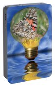 Butterfly In Lightbulb Portable Battery Charger