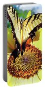 Butterfly Meets Sunflower Portable Battery Charger