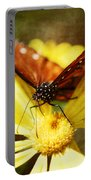 Butterfly On A Daisy  Portable Battery Charger