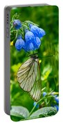 Butterfly On A Flower Portable Battery Charger