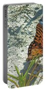 Butterfly On Beach Portable Battery Charger
