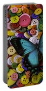 Butterfly On Buttons Portable Battery Charger
