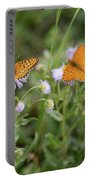 Butterfly On Fleabane #2 Portable Battery Charger