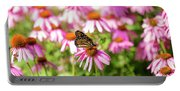 Butterfly On Flowers Portable Battery Charger