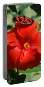 Butterfly On Hibiscus Portable Battery Charger