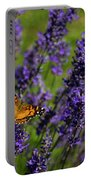 Butterfly On Lavender Portable Battery Charger