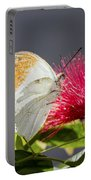 Butterfly On Magenta Flower Portable Battery Charger