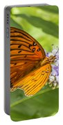 Butterfly On Purple Portable Battery Charger