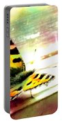 Butterfly On The Window Frame Watercolor Portable Battery Charger