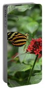 Butterfly Orange And Yellow Portable Battery Charger