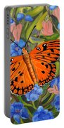 Butterfly Orange Portable Battery Charger