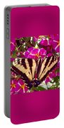 Swallowtail Butterfly Pink Portable Battery Charger