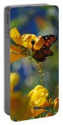Butterfly Pollinating Flowers  Portable Battery Charger