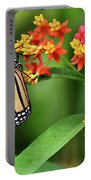 Butterfly Resting On Flower Portable Battery Charger